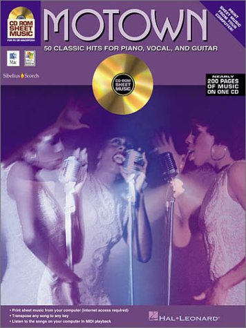 9780634053542: Motown CD-ROM Sheet Music 50 Classic Hits For Piano Vocal Guitar