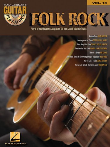 9780634056338: Folk Rock: Guitar Play-Along Volume 13