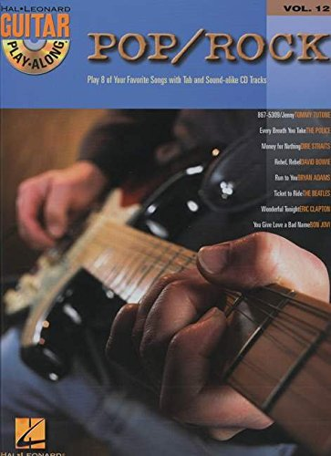 9780634056406: Guitar Play-Along Volume 12: Pop/Rock (Book & CD)