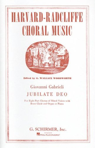 JUBILATE DEO FOR EIGHT PART CHORUS OF