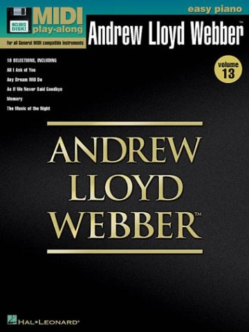 9780634057328: Vol. 13 Andrew Lloyd Webber: Easy Piano MIDI Play Along Book/Disk Pack