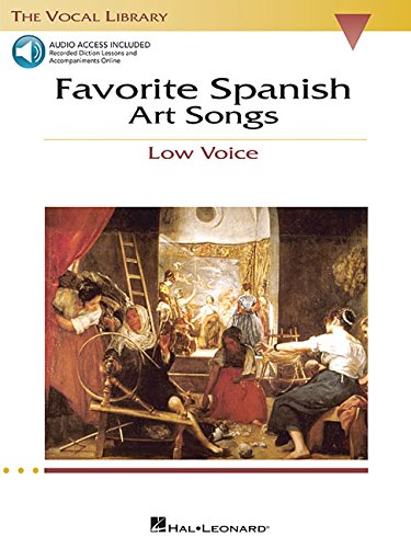 9780634060298: Favorite Spanish Art Songs Low Voice Bk/Online Audio The Vocal Library (Vocal Collection)