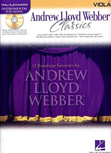 ANDREW LLOYD WEBBER CLASSICS BK/CD VIOLA (Hal Leonard Instrumental Play-Along)