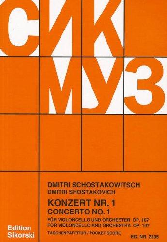 9780634063398: Concerto No. 1 for Violincello and Orchestra, Op. 107