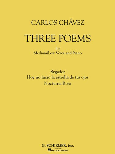 Three Poems: for Medium/Low Voice and Piano: GS EDITION 5
