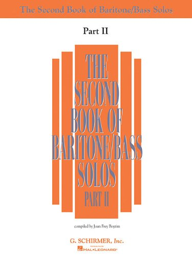 9780634065668: The Second Book of Solos - Part II: Baritone/Bass (Vocal Collection)