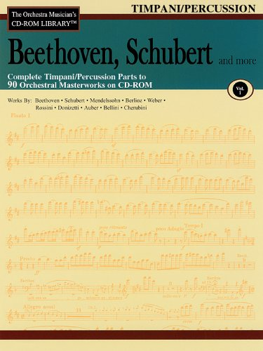 Orchestra Musician's CD-ROM Library Volume 1 Timpani/Perc Beethoven Schubert & More
