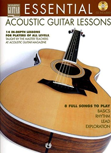 9780634068355: Essential Acoustic Guitar Lessons: 14 in-Depth Lessons for Players of All Levels