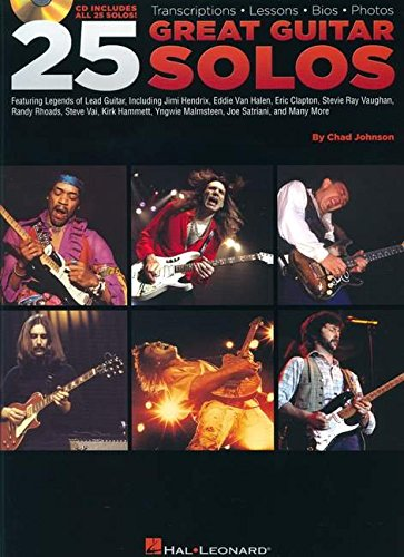 9780634068720: Hal Leonard 25 Great Guitar Solos Tab Songbook with CD