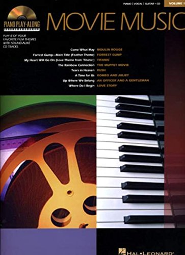 9780634069000: MOVIE MUSIC PLAY ALONG VOLUME 1 BK/CD (Piano Play-Along)