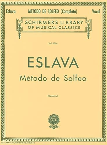 9780634069949: Metodo de Solfeo - Complete: Voice Technique (Vocal Method) (Schirmer's Library of Musical Classics)