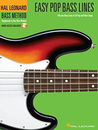 9780634070204: Easy Pop Bass Lines: Play the Bass Lines of 20 Pop and Rock Songs (Bass Method)