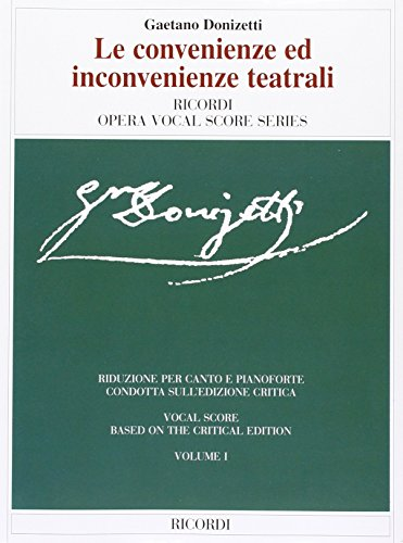 9780634070440: LE CONVENIENZE ED INCONVENIENZE TEATRALI VOCAL SCORE PAPER 2 VOLUME SET