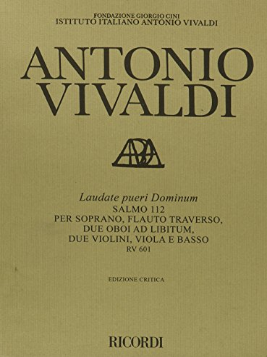 9780634070464: Laudate Pueri Dominum Rv601: Critical Edition Score