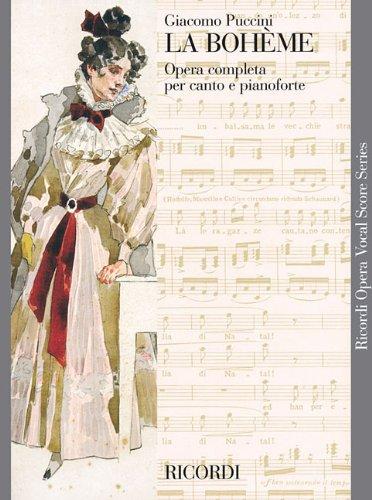 9780634071331: LA BOHEME VOCAL SCORE PAPER ITALIAN NEW ART COVER