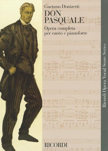 Don Pasquale Vocal Score Italian