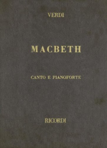 9780634072109: MACBETH VOCAL SCORE CLOTH ITALIAN