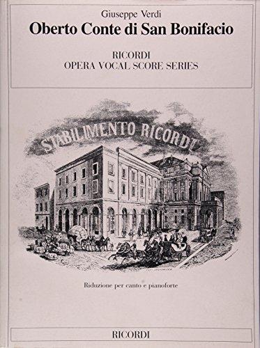 9780634072345: Oberto Conte Di San Bonifacio: Verdi - It