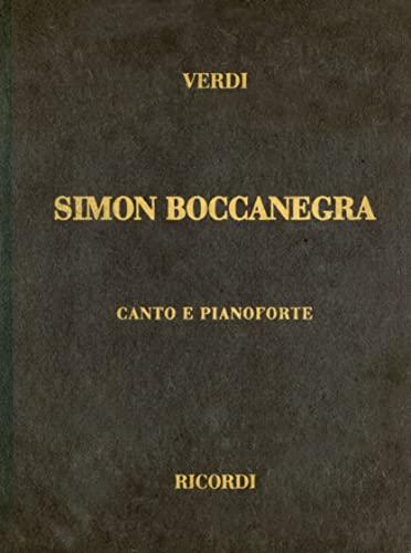 9780634072512: SIMON BOCCANEGRA VOCAL SCORE CLOTH ITALIAN