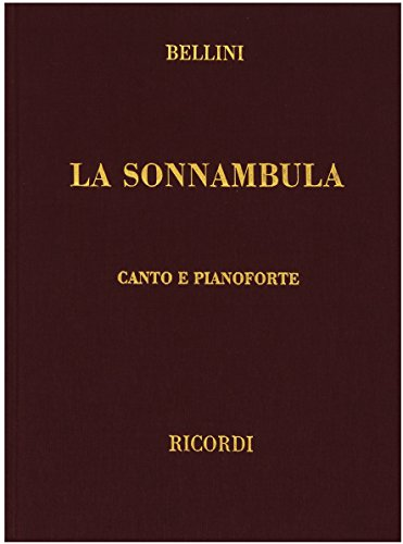 9780634072536: La Sonnambula: Bellini - Cloth - It