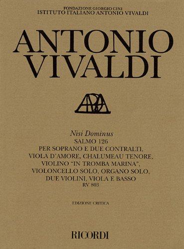 9780634073069: Nisi Dominus Rv803: Critical Edition Score