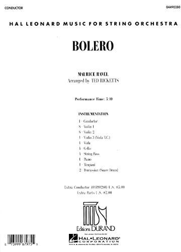 9780634073144: Bolero (Hal Leonard Music for String Orchestra)