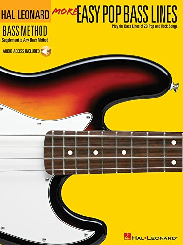 9780634073526: More Easy Pop Bass Lines: Play the Bass Lines of 20 Pop And Rock Songs