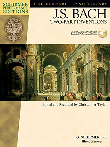 9780634073595: J.S. Bach: Two Part Inventions (Book/Online Audio) Piano (Hal Leonard Piano Library)