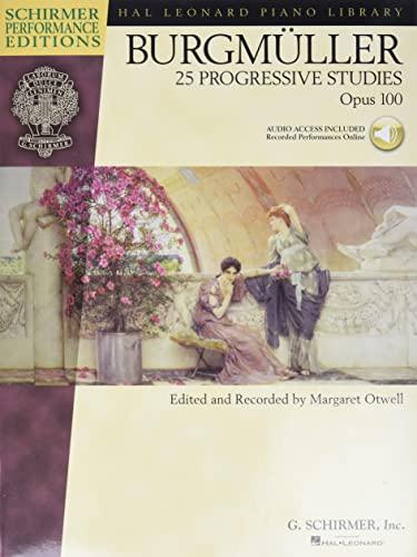 9780634073618: Burgmuller - 25 Progressive Studies, Opus 100 (Schirmer's Library of Musical Classics) Bk with online audio