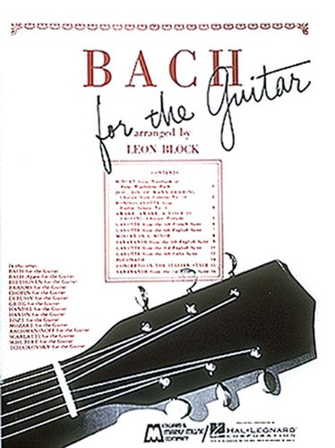 9780634074448: Bach for Guitar: Guitar Solo