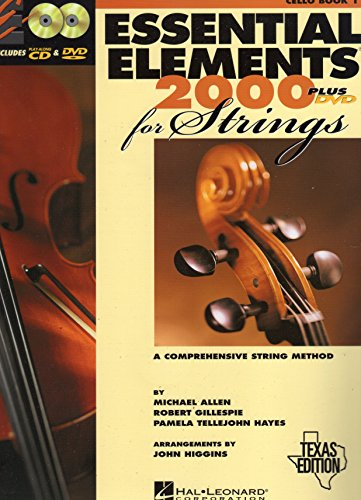 9780634074585: Essential Elements 2000 for Strings (Cello Book 1) Texas Edition