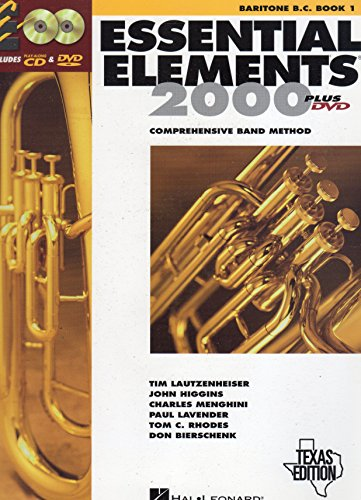 9780634074981: Essential Elements 2000: Comprehensive Band Method (Baritone B.C. Book 1) Texas Edition