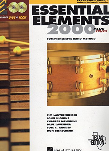 9780634075025: Essential Elements 2000: Comprehensive Band Method (Percussion Book 1) Texas Edition