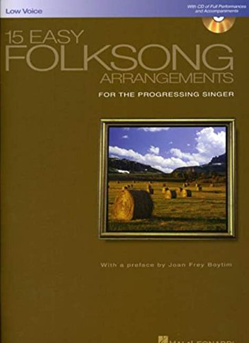 9780634077289: 15 Easy Folksong Arrangements: Low Voice Introduction by Joan Frey Boytim (Vocal Collection) Bk/online audio