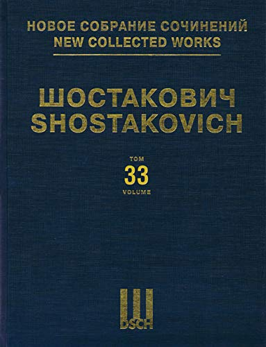 9780634077364: Suite for Variety Stage Orchestra: New Collected Works of Dmitri Shostakovich - Volume 33