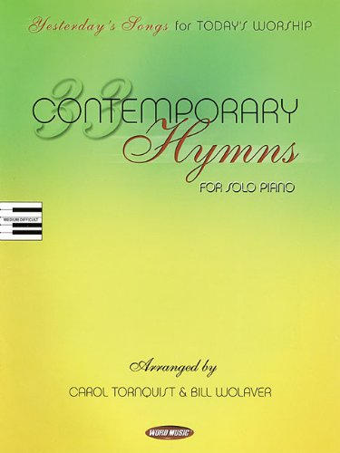 9780634077913: 33 Contemporary Hymns: Yesterday's Songs for Today's Worship Piano Solo