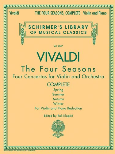 9780634078972: Antonio Vivaldi - The Four Seasons, Complete: for Violin and Piano Reduction