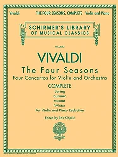 9780634078972: Antonio Vivaldi - the Four Seasons, Complete: For Violin And Piano Reduction