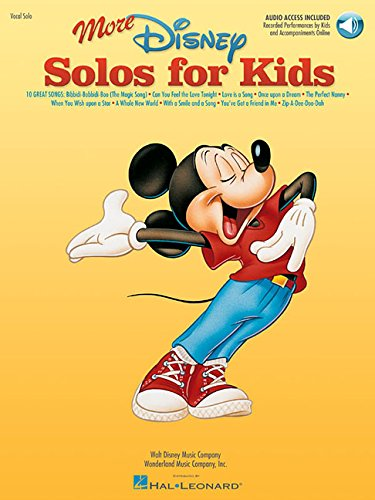 9780634081507: More Disney Solos for Kids (Vocal Collection) with online audio