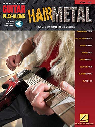 9780634083990: GUITAR PLAY ALONG VOLUME 35 HAIR METAL GUITAR TAB BK/CD