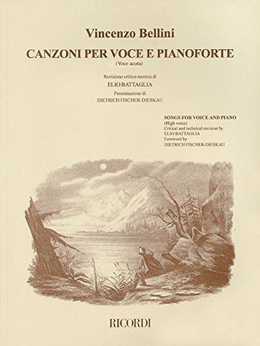 Vincenzo Bellini - Canzoni Per Voce: Songs for High Voice and Piano (Paperback)