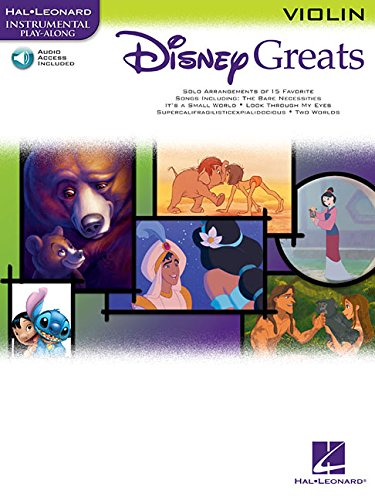 9780634085468: Disney Greats: For Violin Instrumental Play-Along Pack