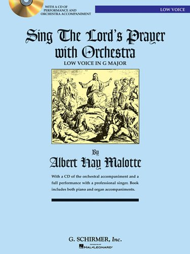 9780634087653: Sing the Lord's Prayer with Orchestra for Low Voice (Book with CD)