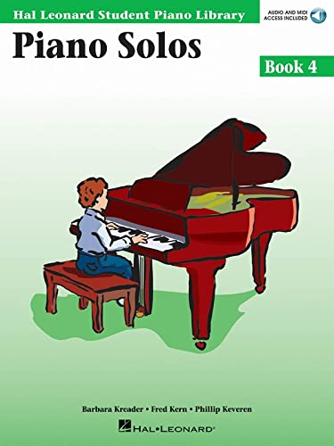 9780634089831: Piano Solos Book 4 - Book/Enhanced CD Pack: Hal Leonard Student Piano Library (Hal Leonard Student Piano Library (Songbooks))