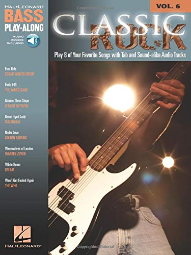Bass Play Along: Volume 6: Classic Rock (Mixed media product)