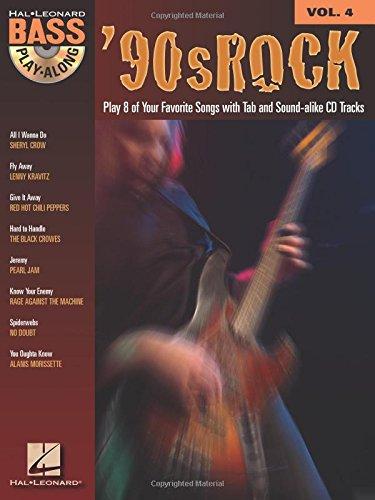 9780634090059: '90S ROCK VOLUME 4 BK/CD BASS PLAY-ALONG