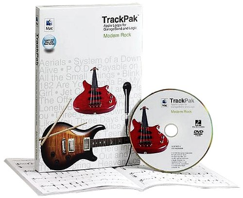 9780634090585: Modern Rock TrackPak: Apple Loops for GarageBand and Logic - Book and DVD-ROM