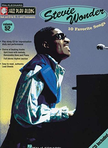 9780634090806: Stevie Wonder: Jazz Play Along Volume 52 (Hal Leonard Jazz Play-Along)