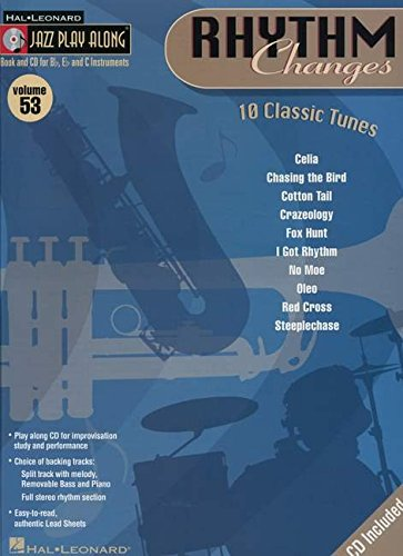 9780634090820: Jazz Play-Along Vol.53 Rhythm Changes: 10 Classic Tunes + CD