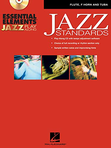 9780634091858: Essential Elements Jazz Play-Along: Jazz Standards Flute, French Horn and Tuba BK/CD-ROM